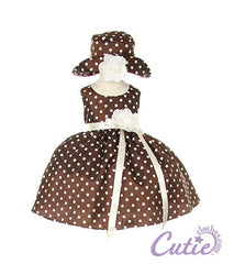 Brown Baby Dress - 1097B
