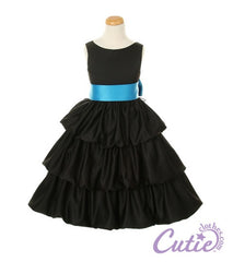 Black Flower Girl Dress - 1061