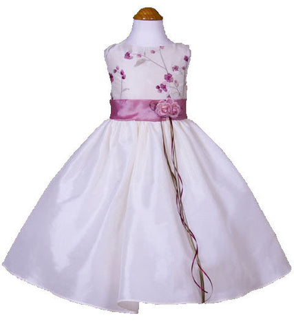 Rose Pink Flower Girls Dress - 0226
