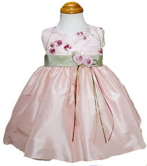 Pink/Sage Girls Dress - 0228