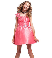Coral Flower Girls Dress - J-1203