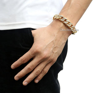 Cuban Chain Yellow Gold Filled Bracelet