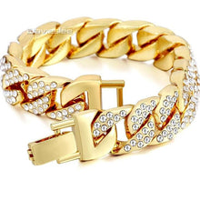 Load image into Gallery viewer, Cuban Chain Yellow Gold Filled Bracelet