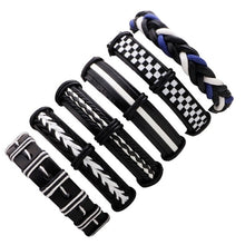 Load image into Gallery viewer, Black Leather Bracelet Multi layer for Unisex