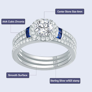 3 Pcs Wedding Ring Set For Women
