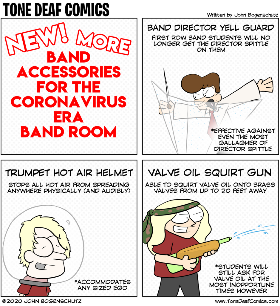 More Band Accessories for the Coronavirus Era Band Room