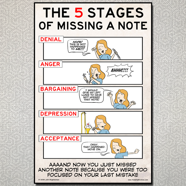 The 5 Stages of Missing a Note