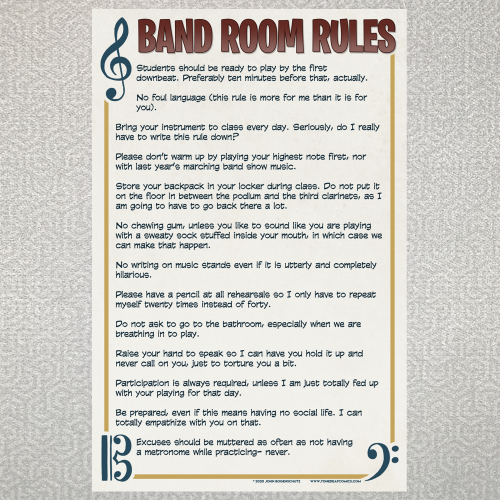 Band Room Rules