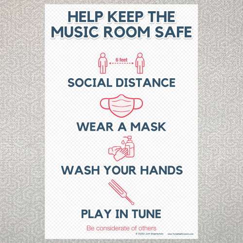 Help Keep The Music Room Safe Poster