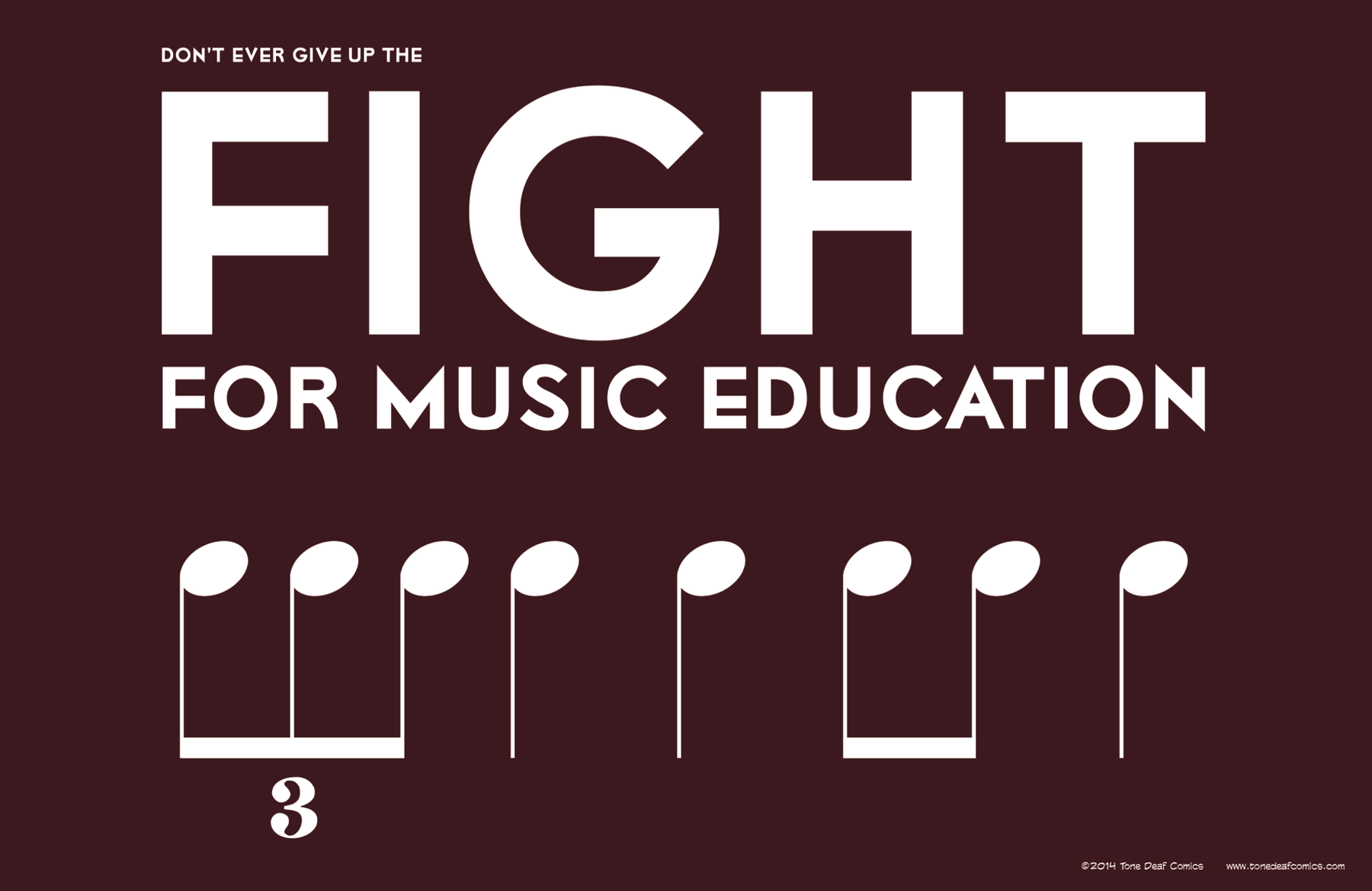 Fight for Music Education Poster – Tone Deaf