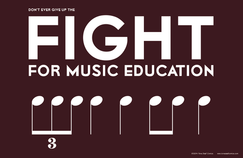 Fight for Music Education Poster
