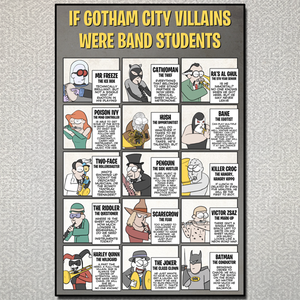 If Gotham City Villains Were Band Students