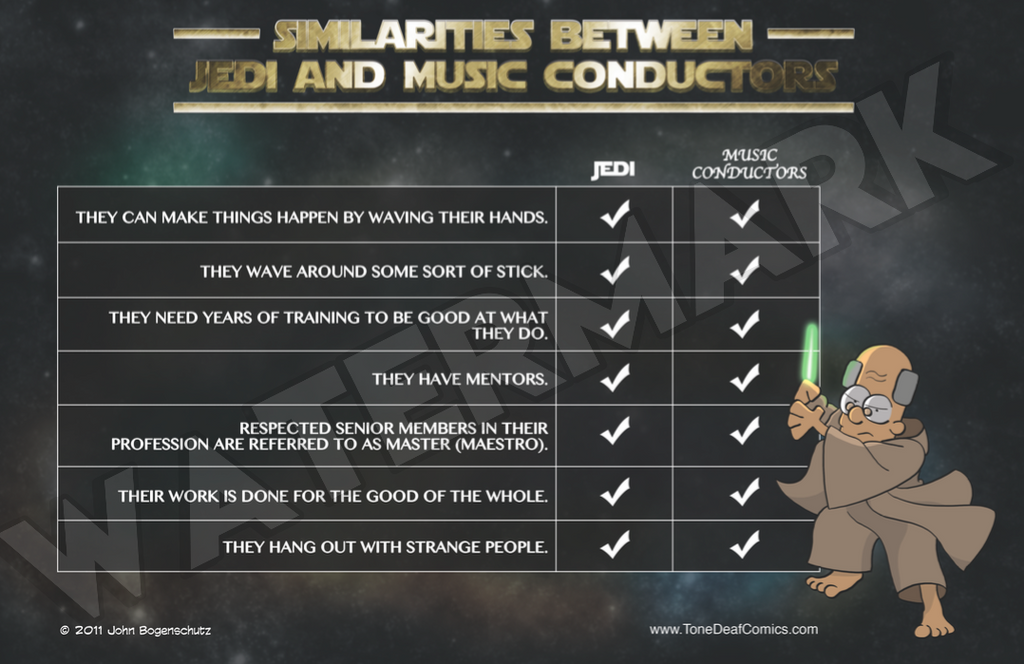 Similarities between Jedi and Music Conductors