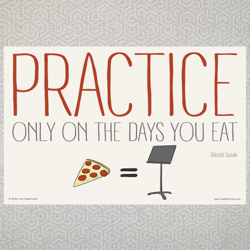 Practice Only on the Days You Eat