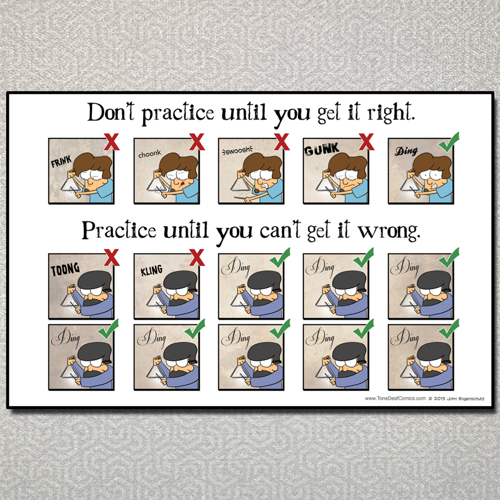 Practice Until You Can't Get it Wrong