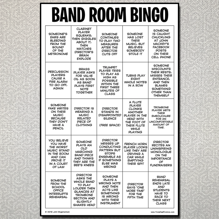 Band Room Bingo
