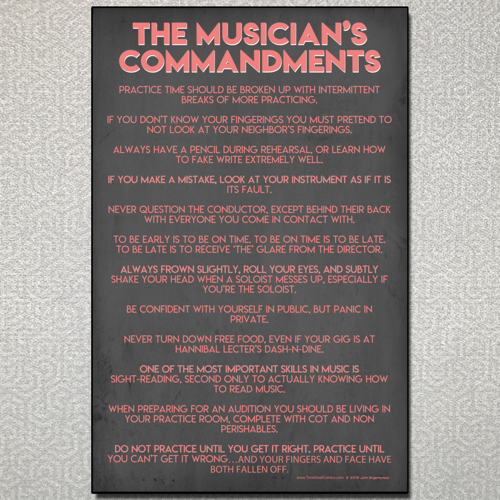 The Musician's Commandments