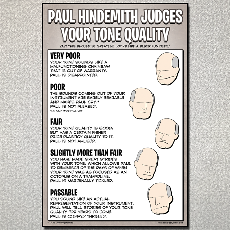 Paul Hindemith Judges Your Tone Quality
