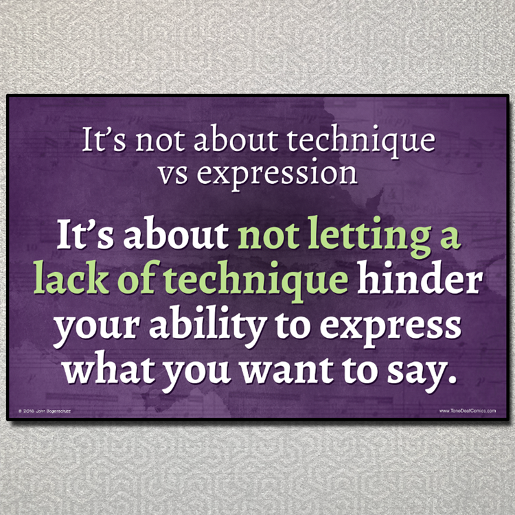 Technique vs Expression