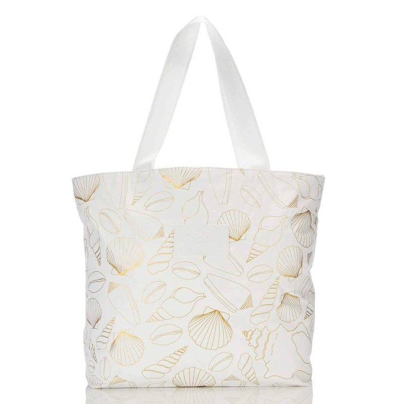 Seashore Day Tripper Tote Gold / White