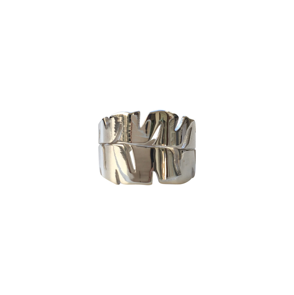 Keani Jewelry Lush Banana Leaf Ring, Lau Nani Line Maui, Hawaii