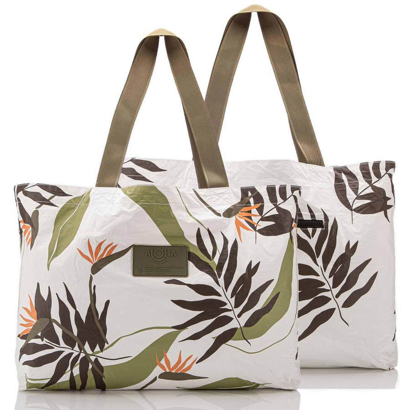 Painted Birds Holo Holo Tote / Neutral White