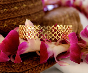 MerMesh Mermaid Scale Cuff, Designed by Keani Jewelry, Maui Hawaii