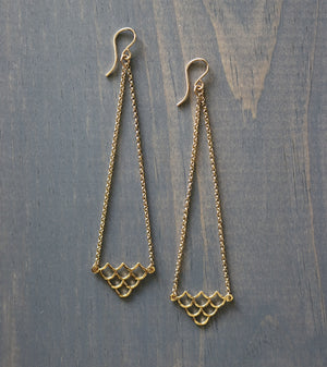 Mermaid Chandelier Earrings, by Keani Jewelry