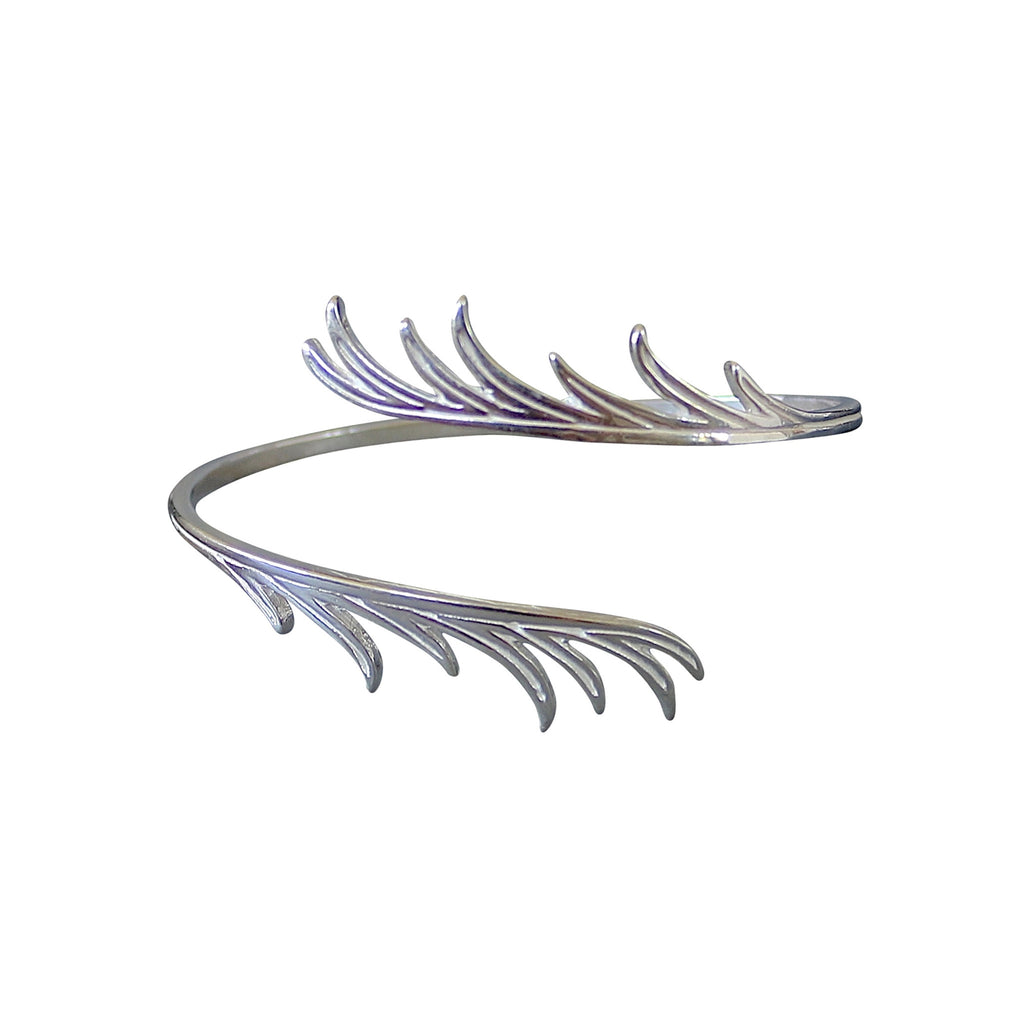 Silhouettes Palm Branch Cuff, Designed by Keani Jewelry, Maui Hawaii