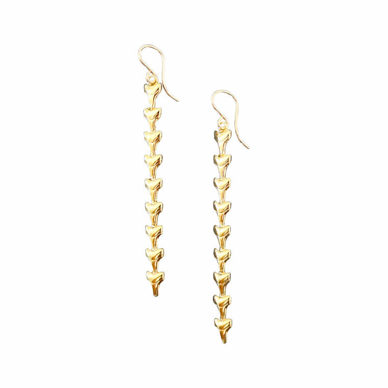 Mano Shark Tooth Striker Earrings by Keani Jewelry