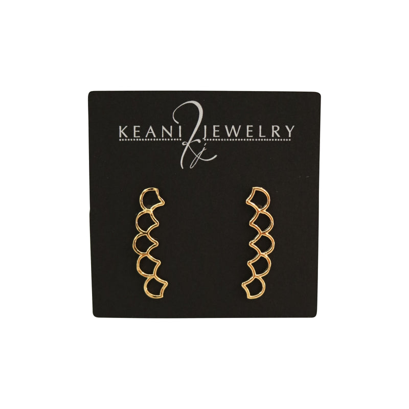 Mermaid Scale Ear Climbers by Keani Jewelry, Maui Hawaii