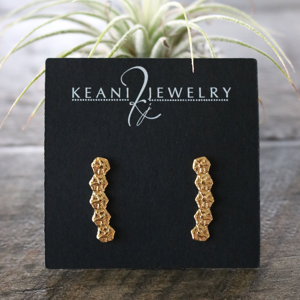 Kahiki Pineapple Ear Climbers, Keani Jewelry