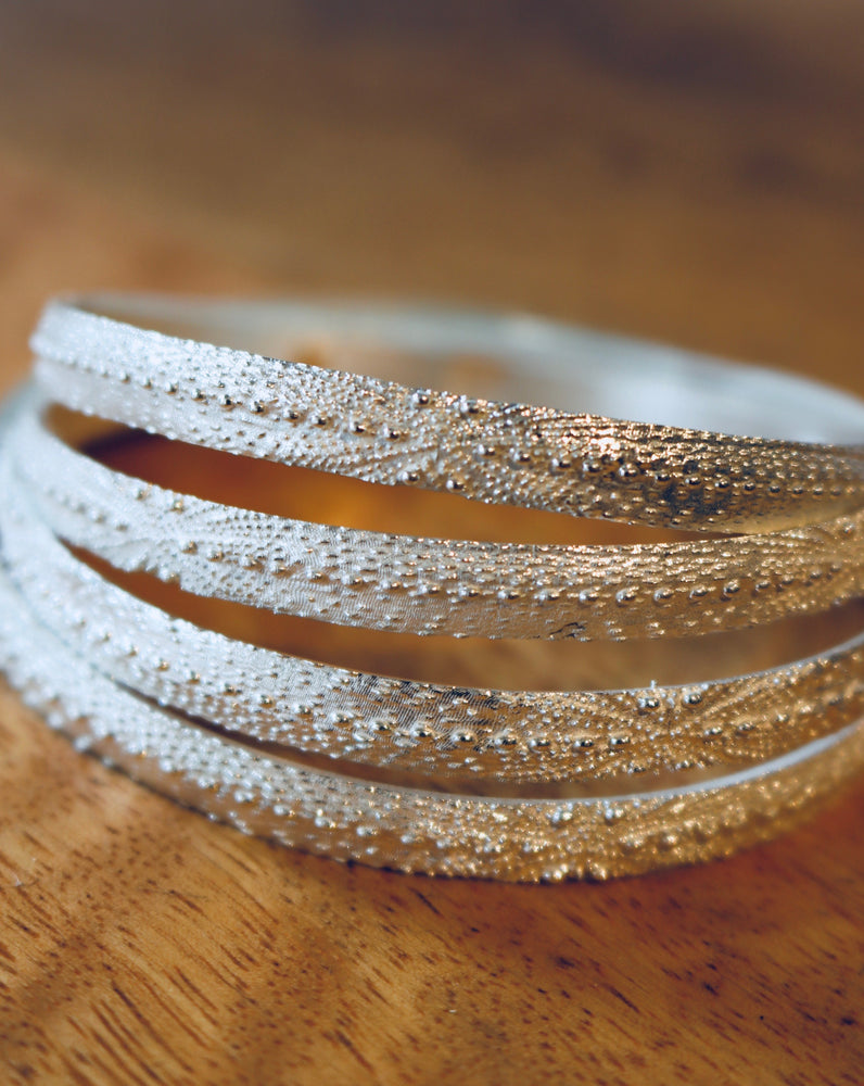 Sandy Beach Urchin shell textured bangle, by Keani Hawai'i
