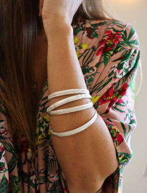Sandy Beach Urchin Bangle worn by Keani Hawai'i