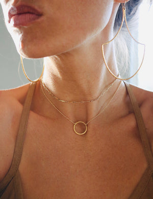 Li'i Choker Necklace, with Mermaid Scale hoops, Keani Hawai'i