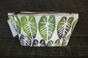 Hand-Painted Kalo Gusseted Pouch