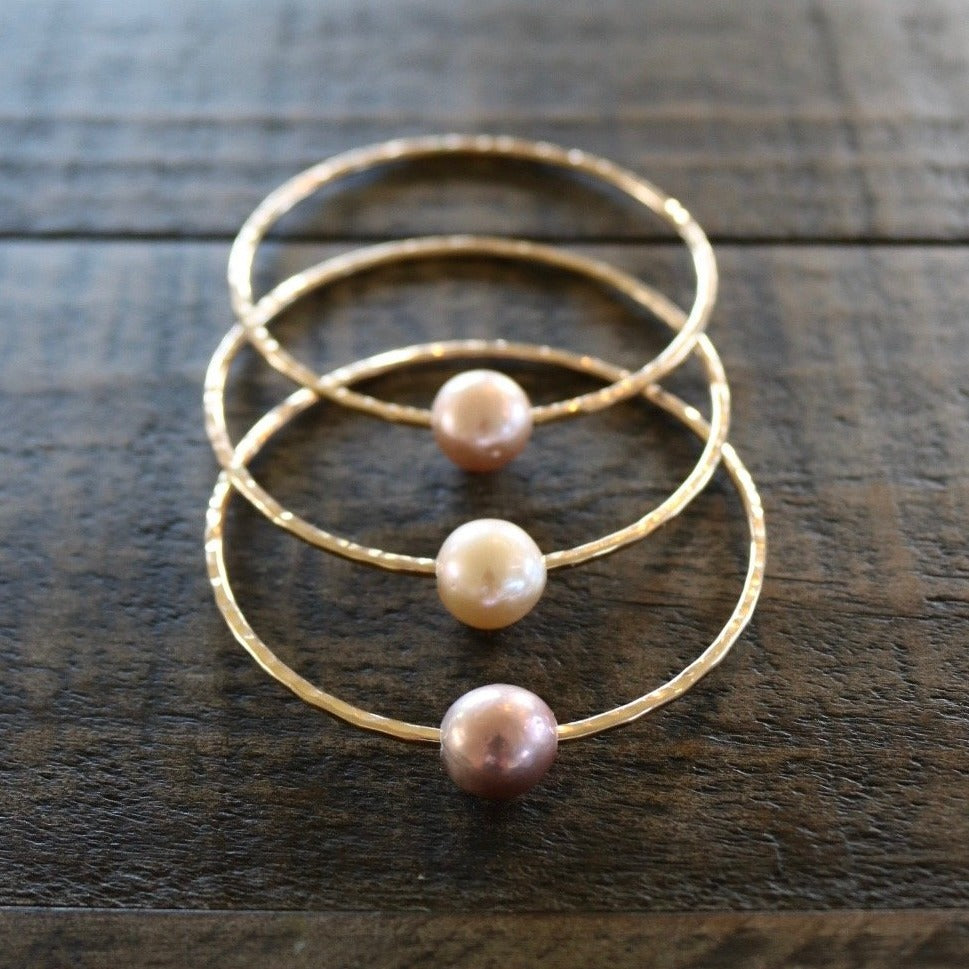 Pink Edison Pearl Bangle, by Keani Hawai'i