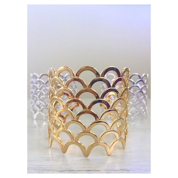 Mermaid Scale Cuff by Keani Jewerly, designed in Maui, Hawaii