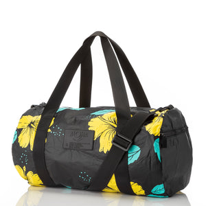Hibiscus Canary Duffle / Black