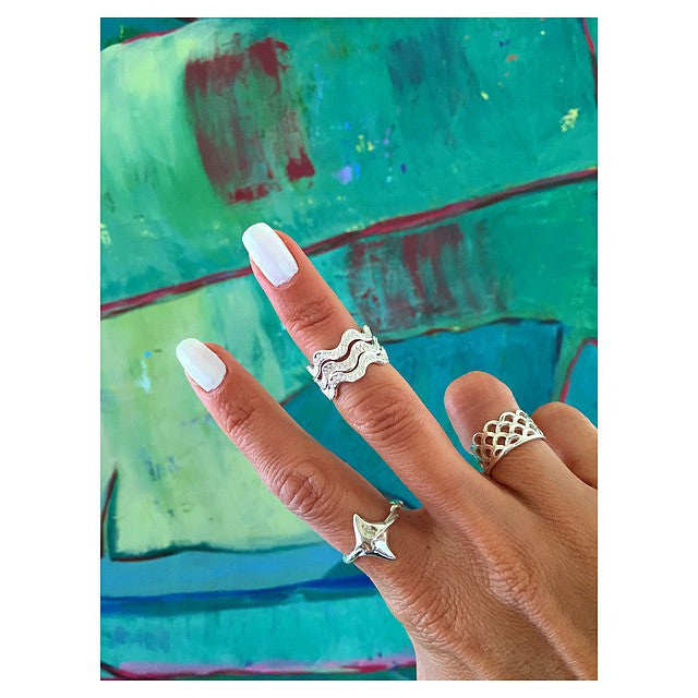 He'e Twist Stackable Ring, Octopus Tentacle Ring, Keani Jewelry