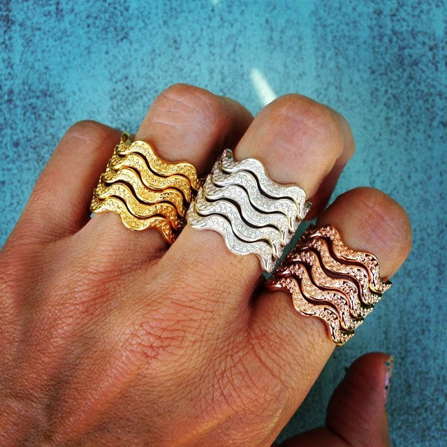 He'e Wavy Rings, Stackable, Octopus Rings, Rings, He'e, Keani Jewelry
