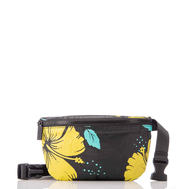 Hibiscus Canary Mini Hip Pack / Black