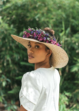 Pikoʻole Pāpale Hawaiian Crownless Hat (Full Brim)