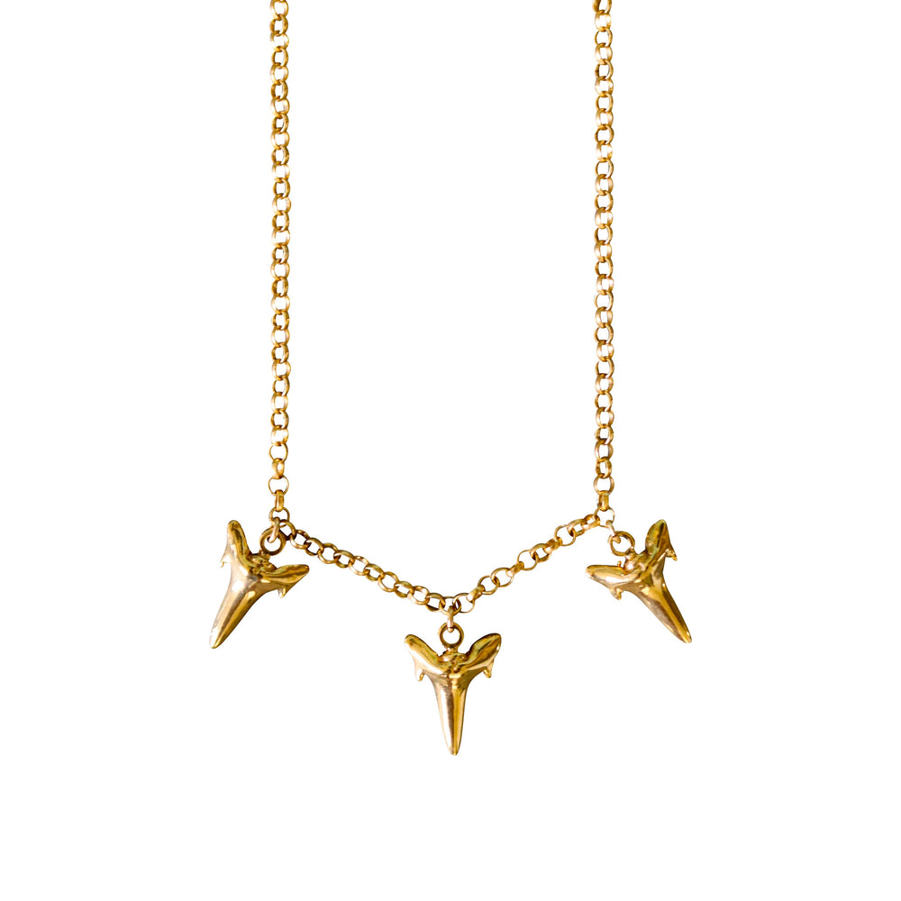Triple Threat Shark Tooth Necklace- Keani Jewelry