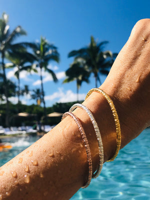 Coco Bangle, inspired by the texture of a coconut tree, Keani Hawai'i