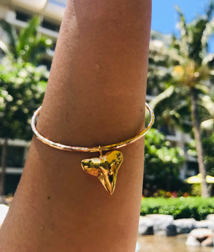 Mano Aloha Shark Tooth Bangle, Keani Hawai'i