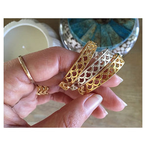 KEANI Jewelry Keiki Mermaid Bangle, Mixed Metals,  Maui Hawaii