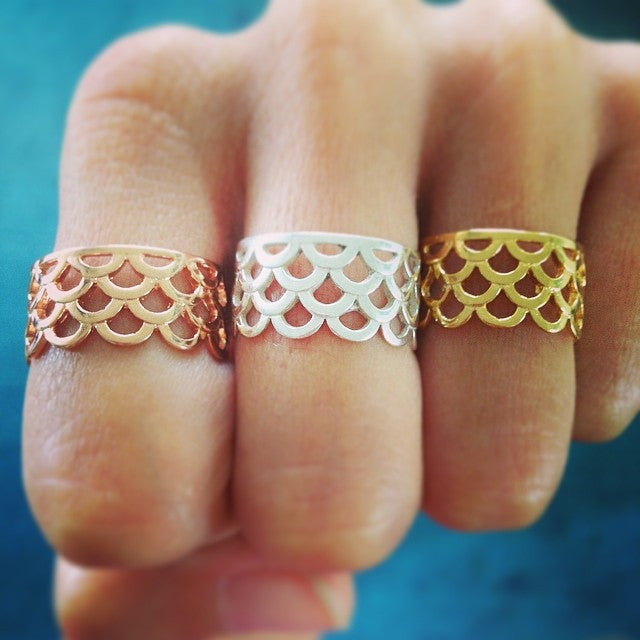 Mermaid Scale Rings, Signature design by Keani Jewelry, Mermaid Jewelry, Mermaids, Hawaii, Maui