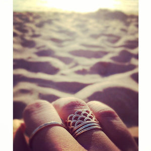 Mermaid Scale Ring, MerRing, designed by KEANI Jewerly in Maui, Hawaii