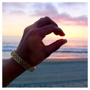 Mermaid Scale Bangles at Sunset, Keani Jewelry